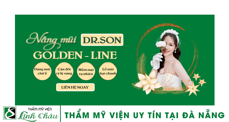 Dịch vụ nâng mũi Golden Line uy tín ở thẩm mỹ viện Linh Châu Đà Nẵng
